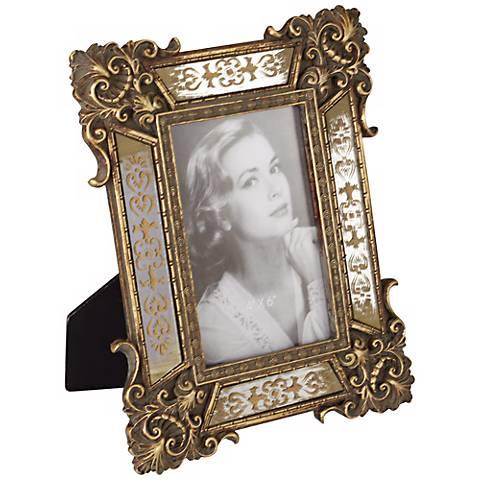 Florentine Antique Gold Mirror 4x6 Photo Frame