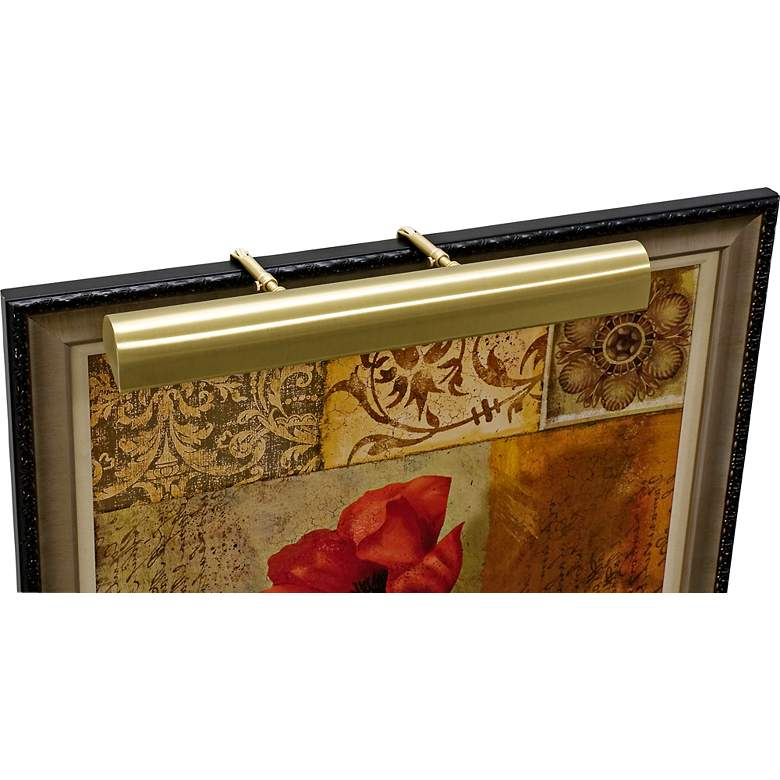 """House of Troy 21"""" Wide Satin Brass Adjustable"""