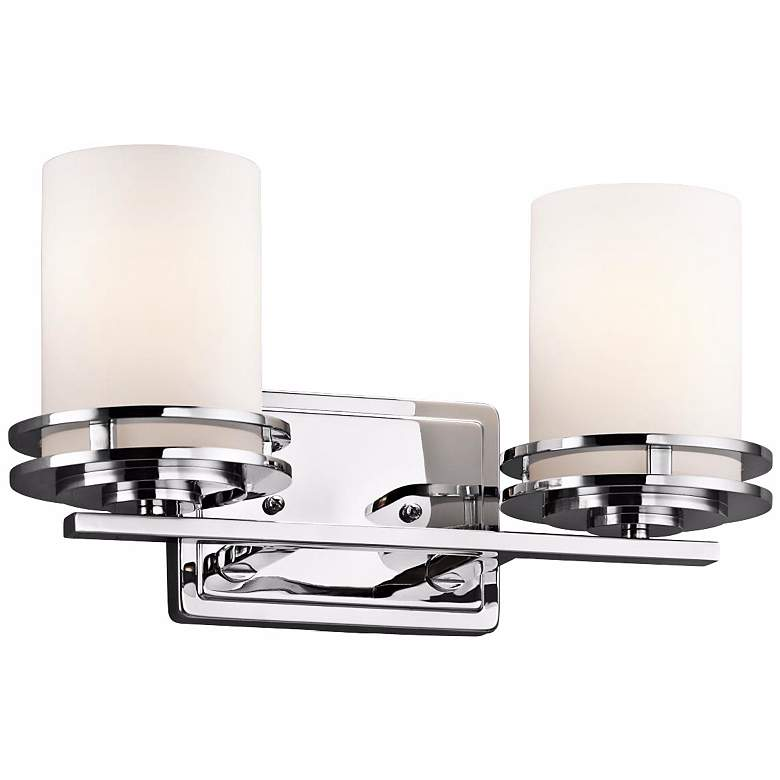"Kichler Hendrik 14 1/2"" Wide Satin Opal Glass Bathroom Light"