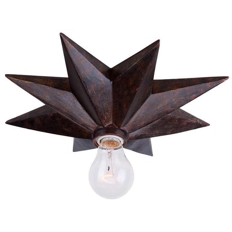 "Crystorama Astro 12"" Wide Bronze Ceiling Light Fixture"