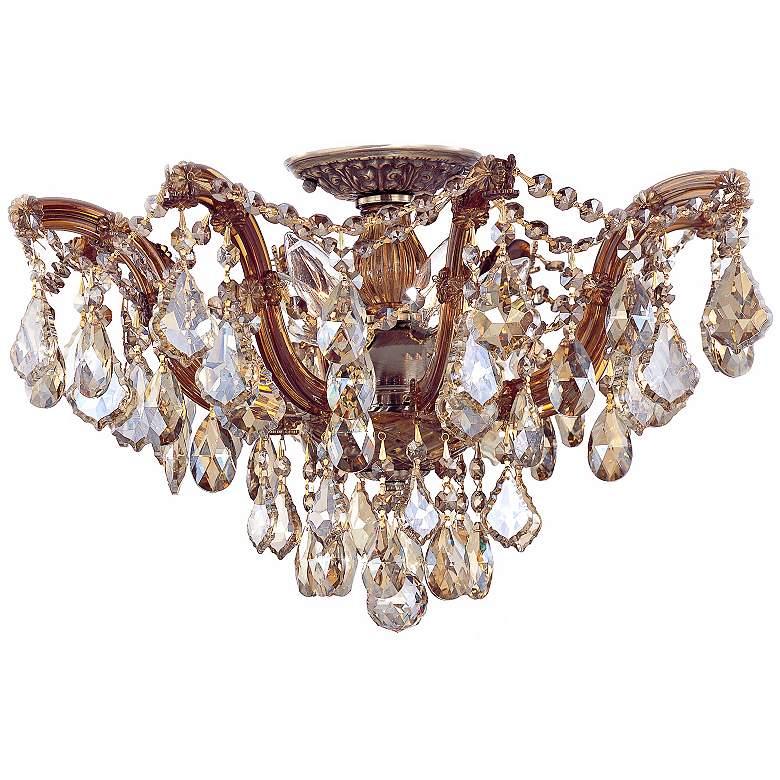 "Crystorama Maria Theresa 19"" Wide Crystal Ceiling Light"