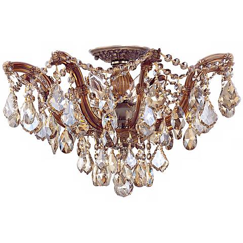 "Crystorama Maria Theresa 19"" Wide Crystal Ceiling Light"
