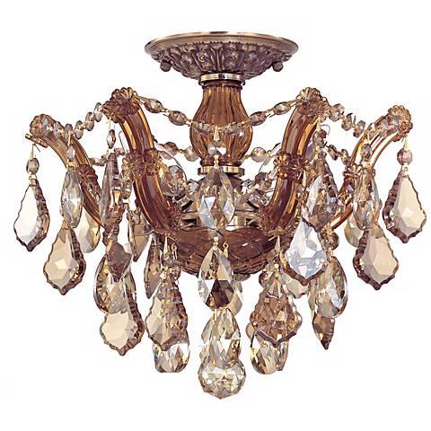 "Crystorama Maria Theresa 13 1/2"" Wide Crystal Ceiling Light"