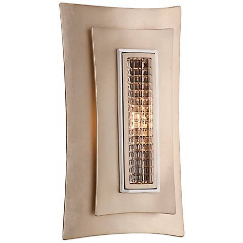 """Corbett Muse 12"""" High Silver Leaf with Crystal Wall Sconce"""