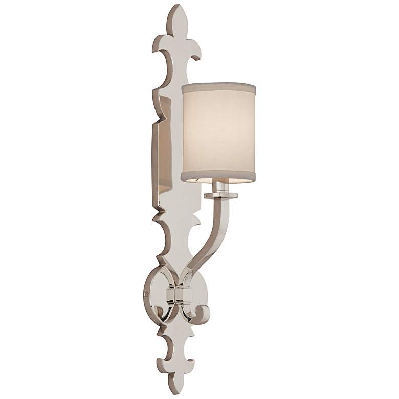 """Corbett Esquire 23 3/4"""" High Polished Nickel Wall Sconce"""