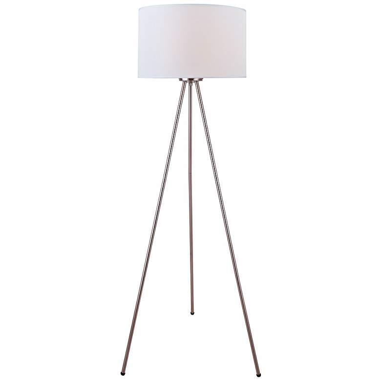 Lite Source Tullio Tripod Polished Steel Floor Lamp
