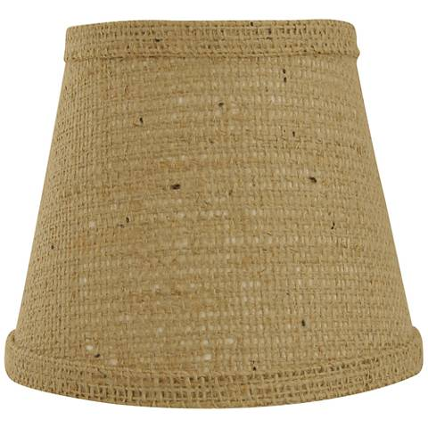 Natural Burlap Lamp Shade 8x14x10.25 (Spider)