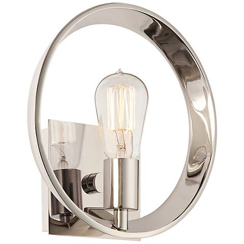 "Quoizel Uptown Theater Row 10"" Wide Silver Wall Sconce"