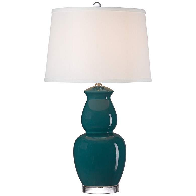 Blue Double Gourd Ceramic Table Lamp