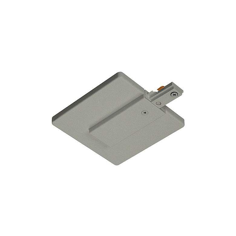Juno Live End Connector with Cover in Silver