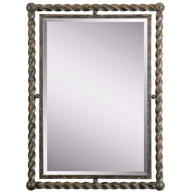 "Uttermost Garrick Wrought Iron 26"" x 35"" Wall Mirror"