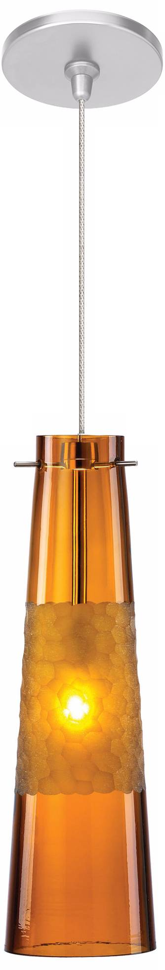Lbl bonn 3 3 4 wide amber nickel mini pendant