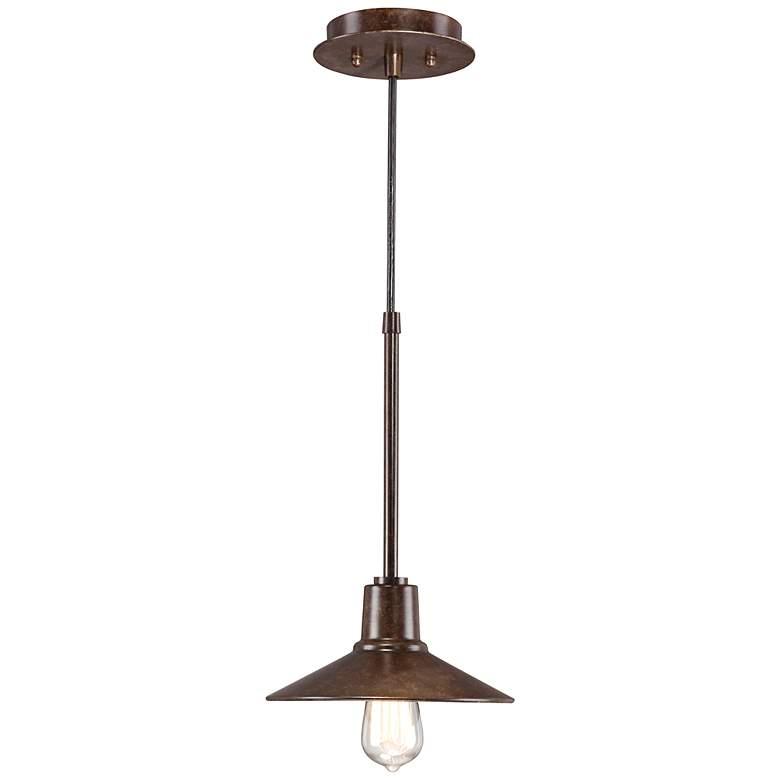 "Warm Bronze 9"" Wide Edison Industrial Mini Pendant Light"