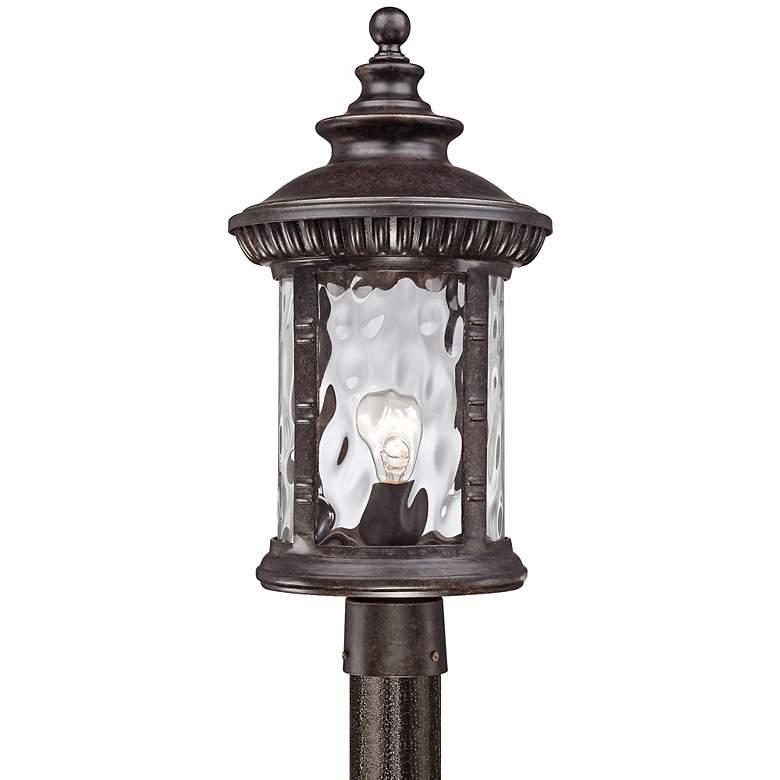 "Quoizel Chimera 10 1/2"" Wide Bronze Outdoor Post Light"