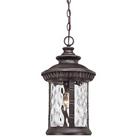 "Quoizel Chimera 19""H Bronze Outdoor Pendant Light"