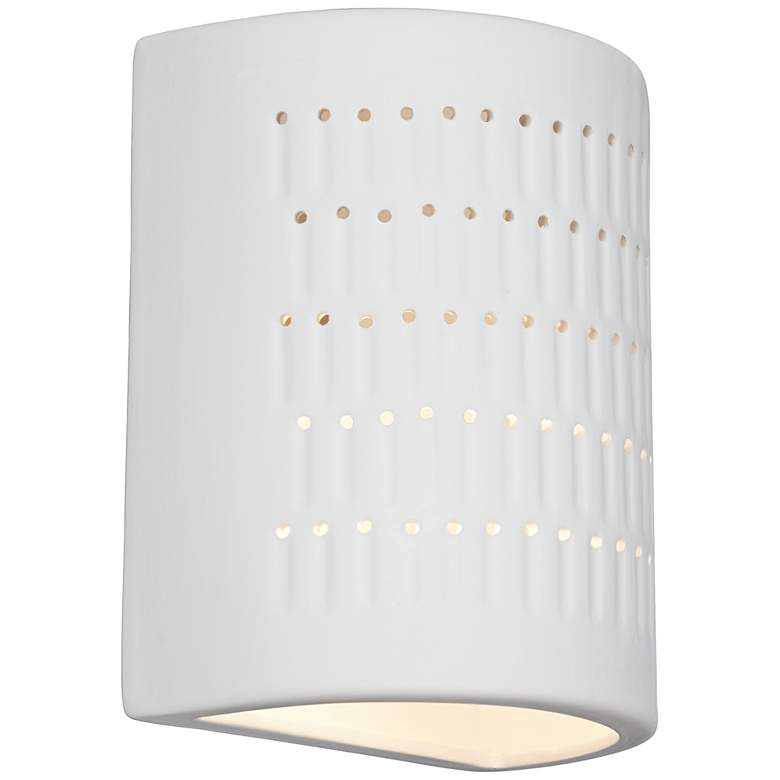 "Zenia 10"" High White Ceramic Outdoor Wall Light"