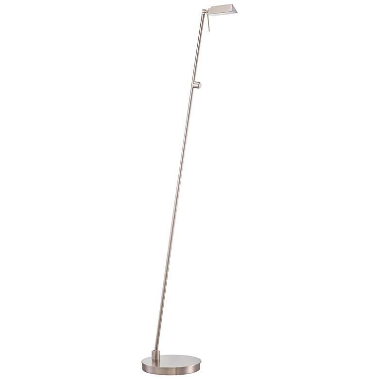 George Kovacs Brushed Nickel Tented LED Pharmacy Floor Lamp