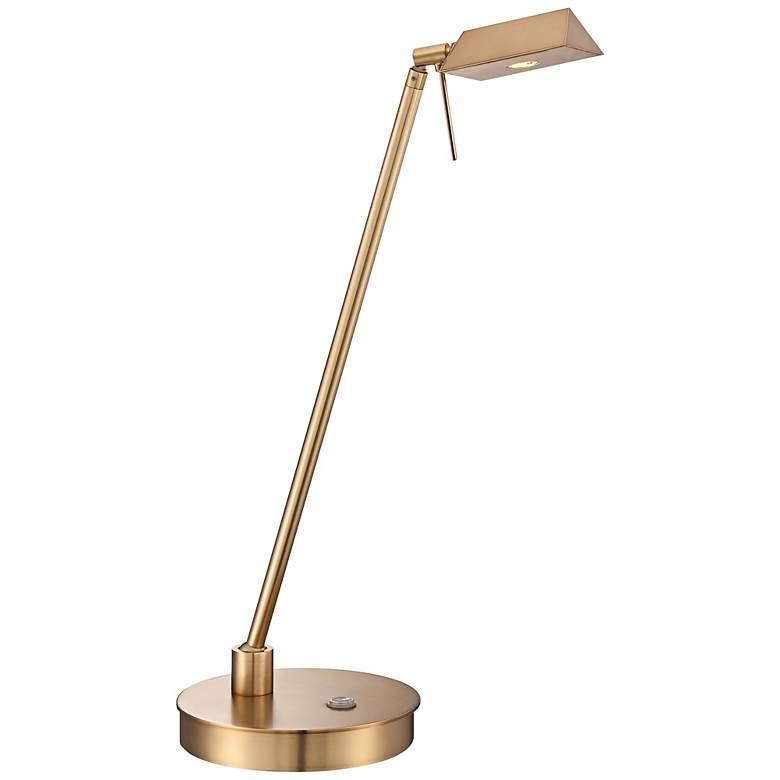 George Kovacs Honey Gold Tented LED Desk Lamp