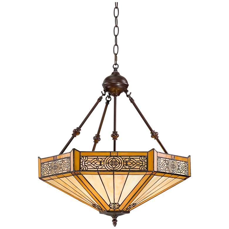 "Stratford 20 3/4"" Wide 3-Light Mission Tiffany Style Pendant"