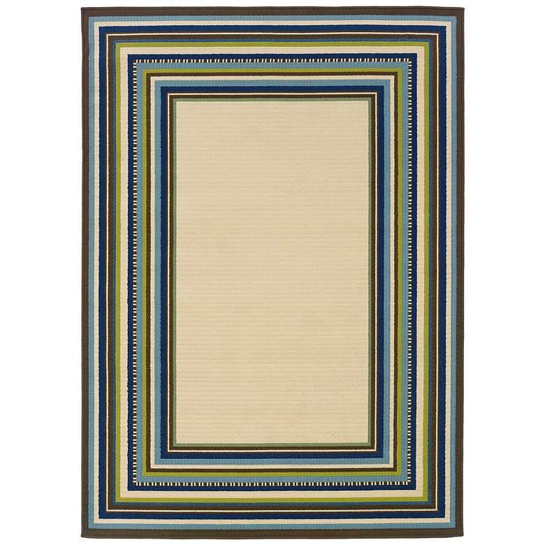 """Oriental Weavers Caspian 1003X 5'3""""x7'6"""" Outdoor Rug"""
