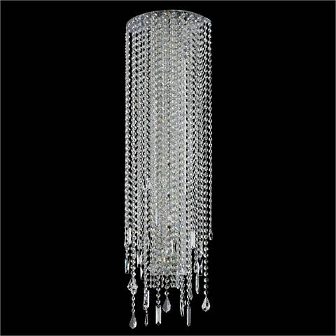 "Divine Ice 38"" High Crystal Sconce"