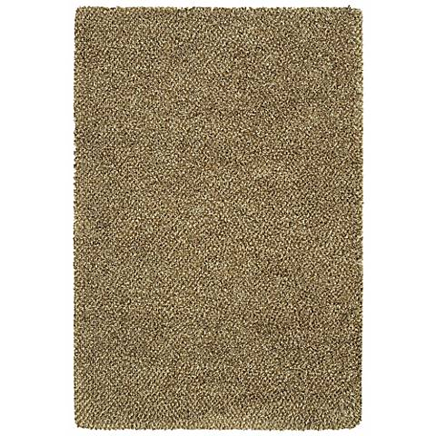 Soho Collection Brown/Ivory Shag Area Rug