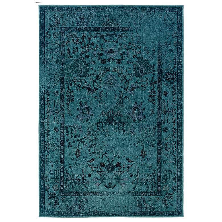 "Oriental Weavers Revival 550H 5'3""x7'6"" Aqua Area Rug"