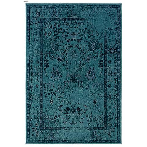 Oriental Weavers Revival 550H Aqua Area Rug
