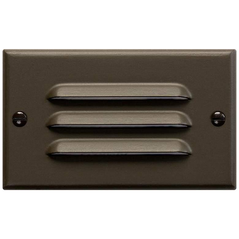 "Kichler 4 1/2""W Architectural Bronze Louvered LED Step Light"