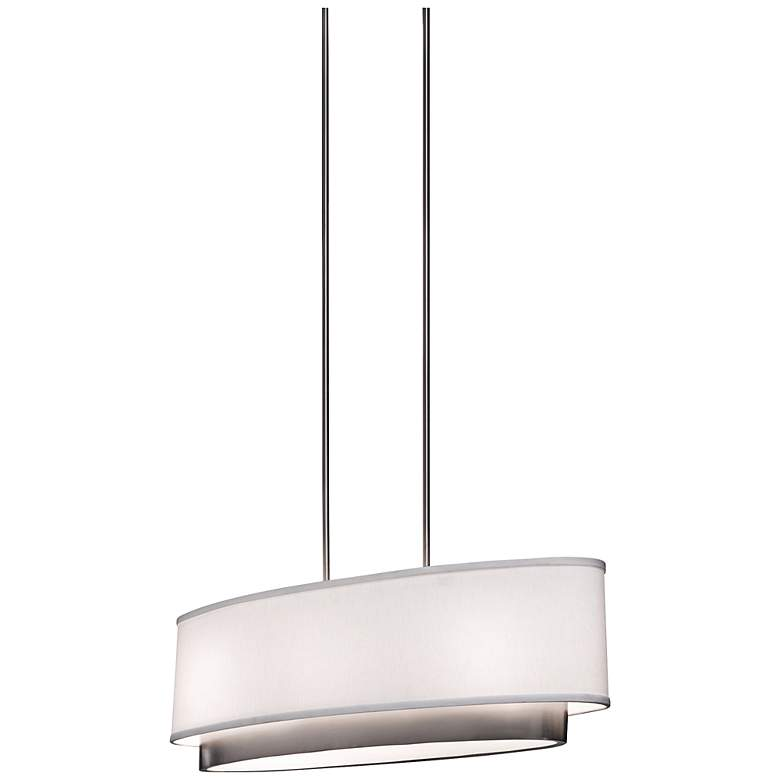 "Artcraft Scandia 31"" Wide Brushed Nickel Pendant Light"