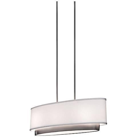 "Artcraft Scandia  31"" Wide Brushed Nickel Pendant Light"