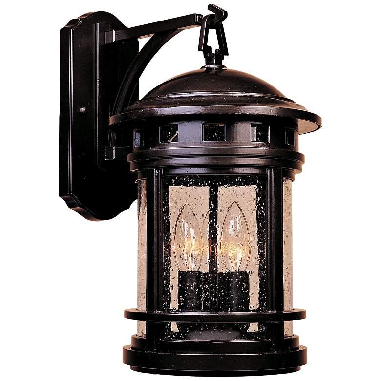 """Sedona 20"""" High Seedy Glass Bronze Outdoor Wall Light"""