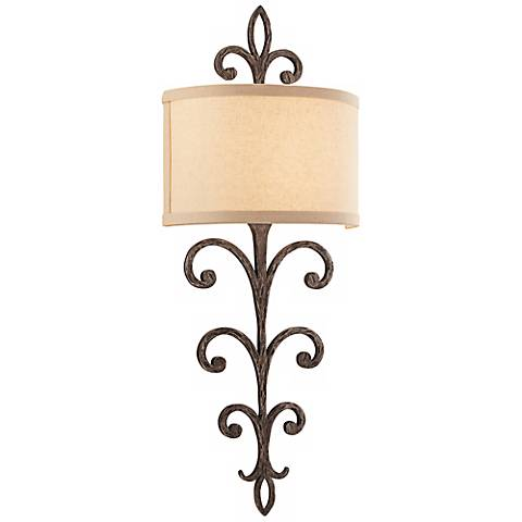 "Crawford 11"" Wide Cottage Bronze Wall Sconce"