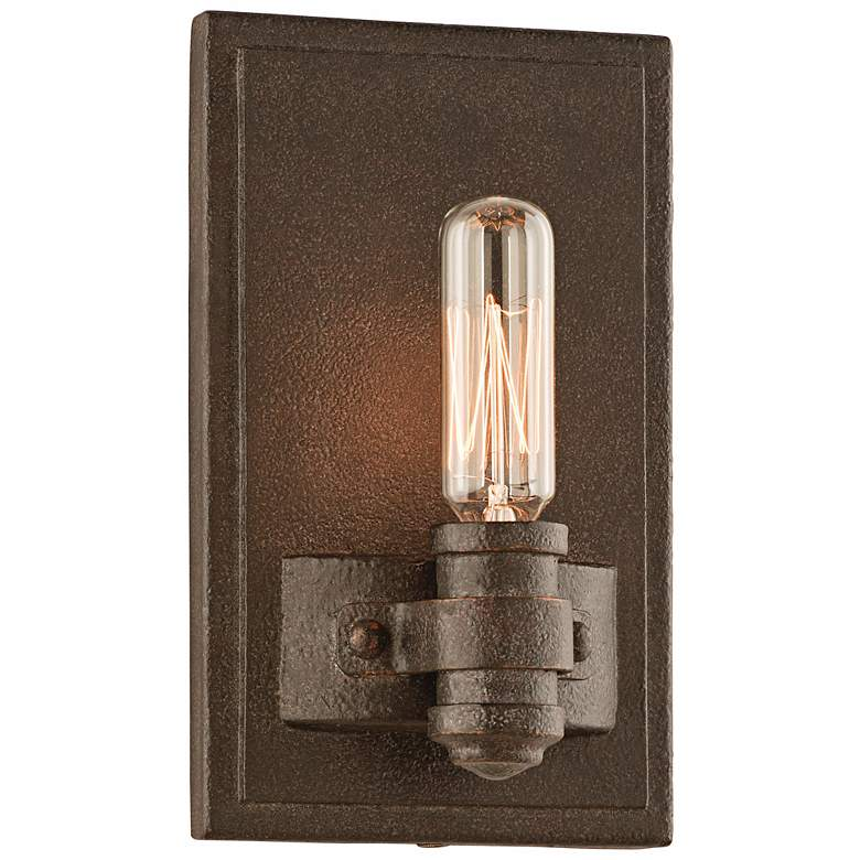 "Pike Place 7 1/4"" High Shipyard Bronze Wall Sconce"