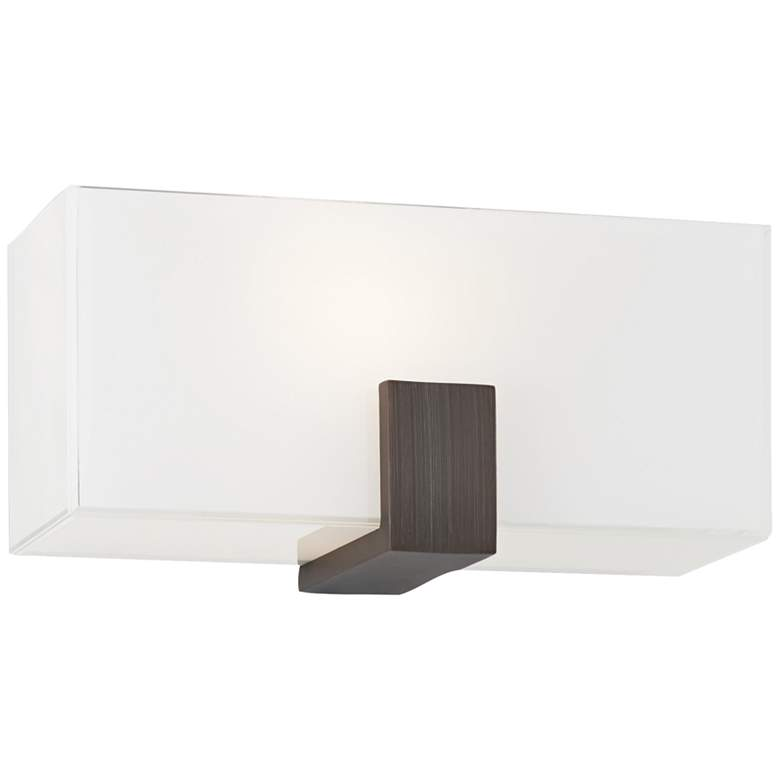 """George Kovacs Rectangular 10"""" Wide Copper Bronze Wall Sconce"""