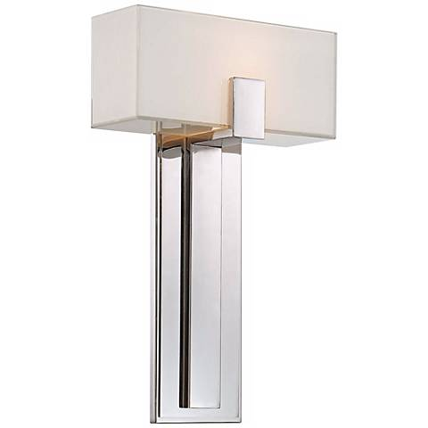 "George Kovacs Mitered Glass 10"" Polished Nickel Wall Sconce"