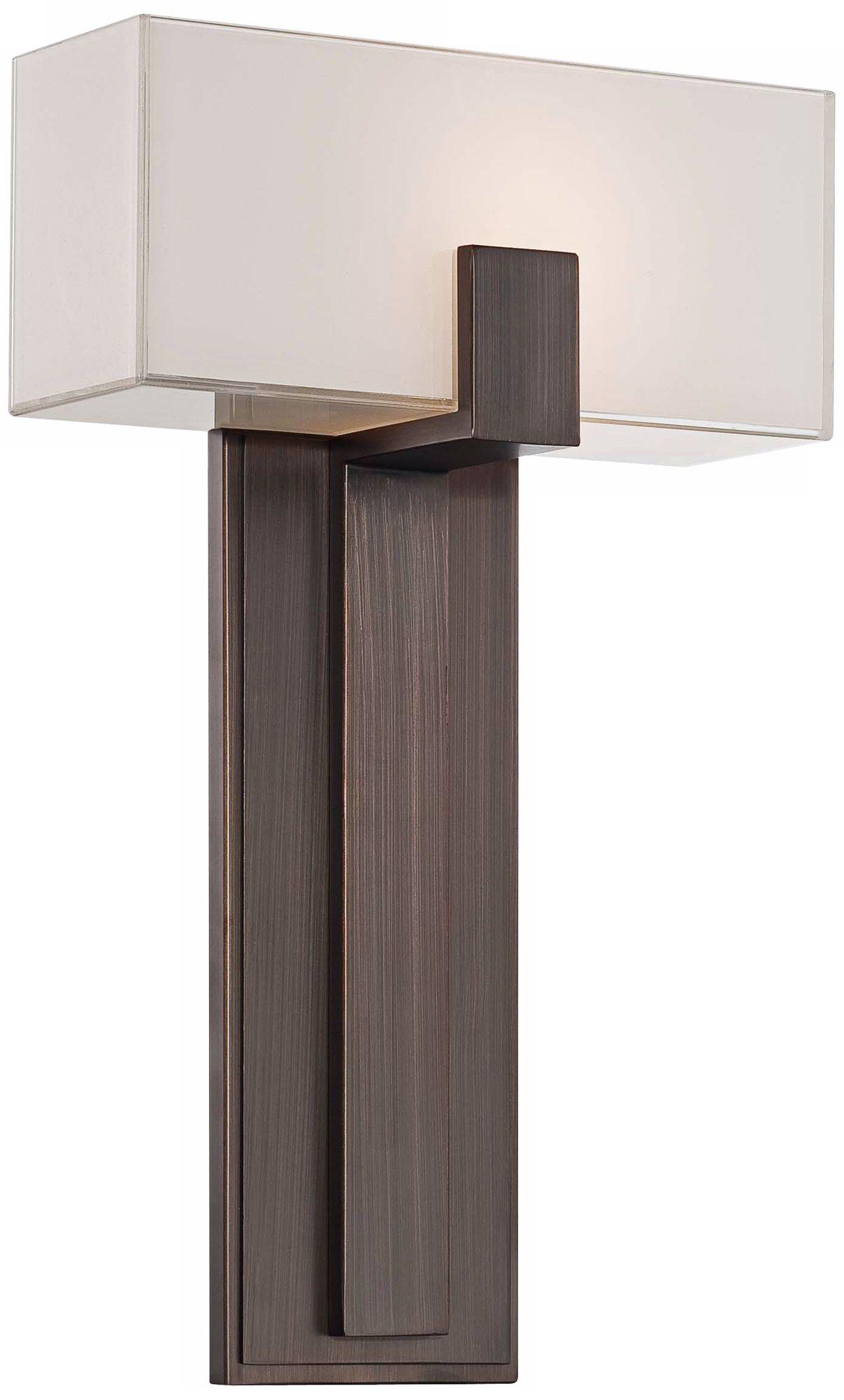 George Kovacs Mitered Glass 10  Copper Bronze Wall Sconce  sc 1 st  L&s Plus & George Kovacs Mitered Glass 10