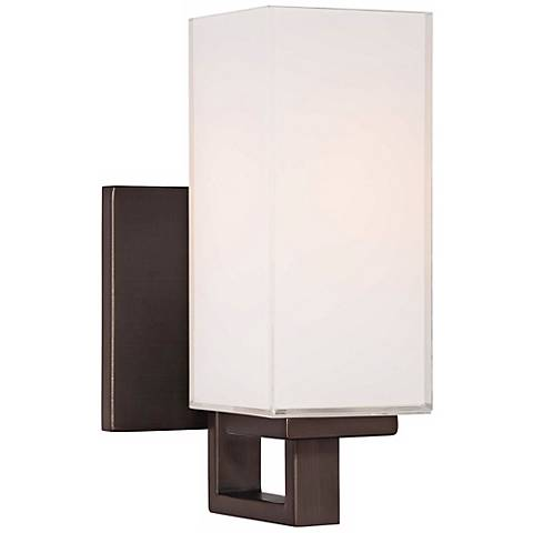George Kovacs Mitered Glass 4 1 2 Copper Bronze Wall Sconce
