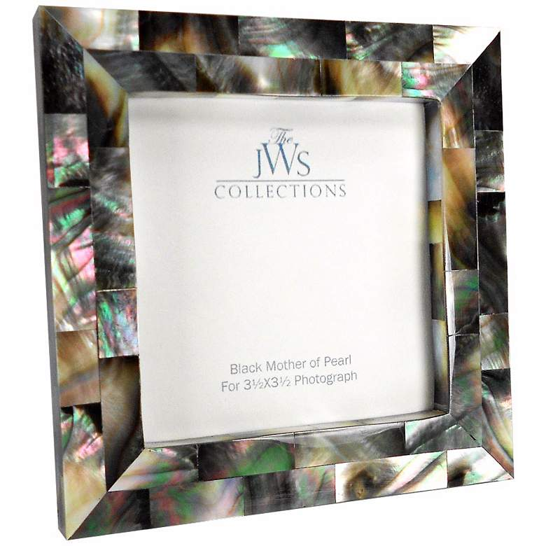 Black Mother of Pearl 3.5x3.5 Photo Frame