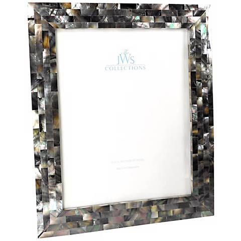 Black Mother Of Pearl 8x10 Photo Frame W4955 Lamps Plus