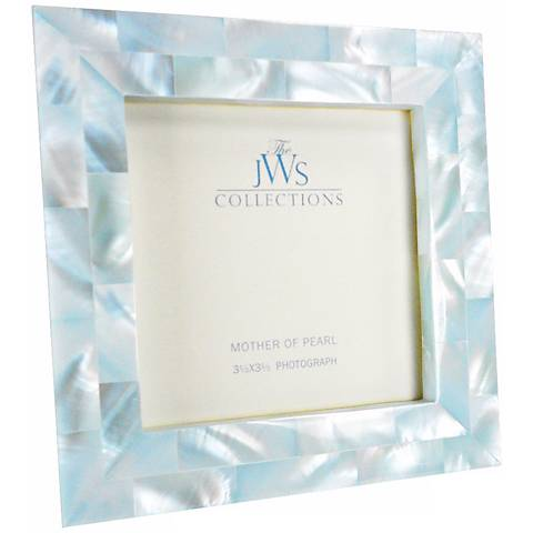 Blue Mother of Pearl 3.5x3.5 Frame