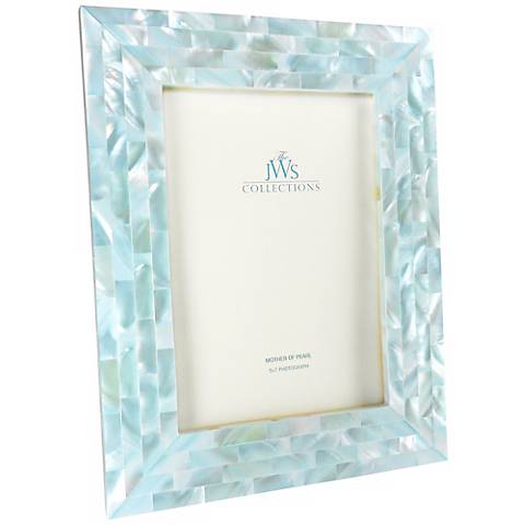 Blue Mother of Pearl 5x7 Frame - #W4967 | Lamps Plus