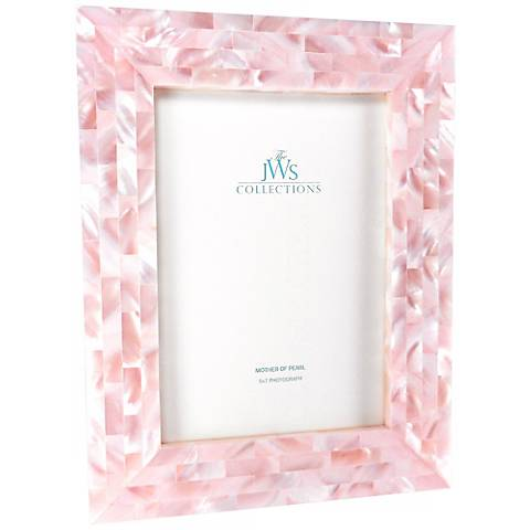 Pink Mother of Pearl 5x7 Frame