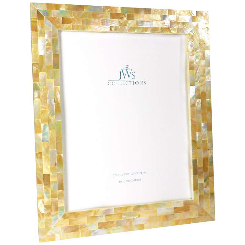 Golden Mother of Pearl Oyster Shell 8x10 Picture