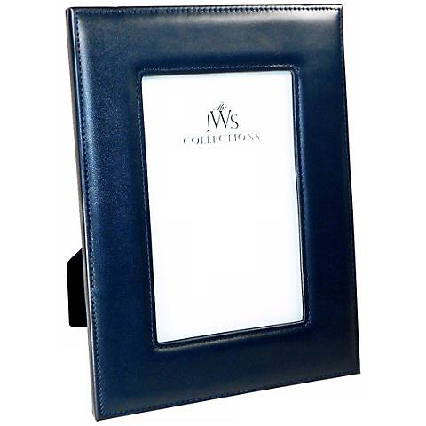 Navy 4x6 Cowhide Leather Picture Frame