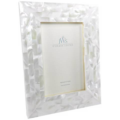 White Mother of Pearl 4x6 Photo Frame