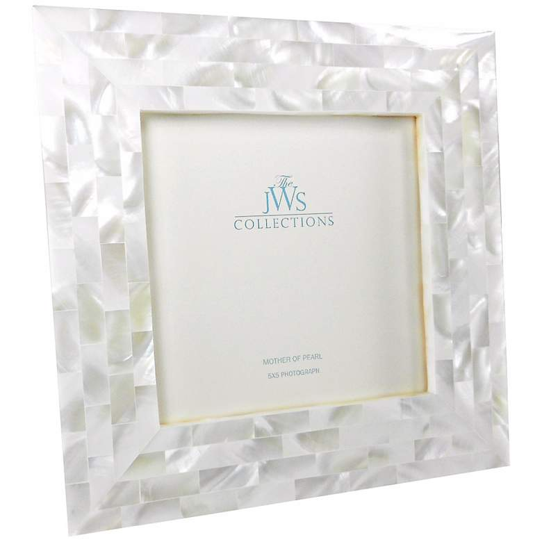 White Mother of Pearl Shell 5x5 Photo Picture Frame