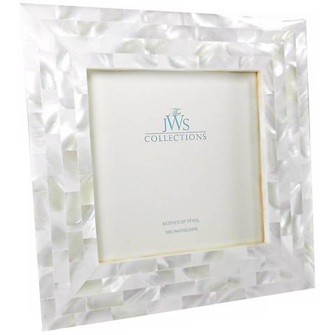 White Mother of Pearl 5x5 Photo Frame - #W5088 | Lamps Plus