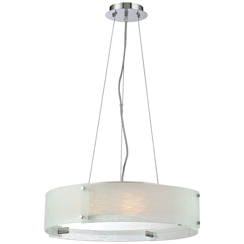 "Lite Source Kaelin Curved Glass 20 3/4"" Pendant Light"