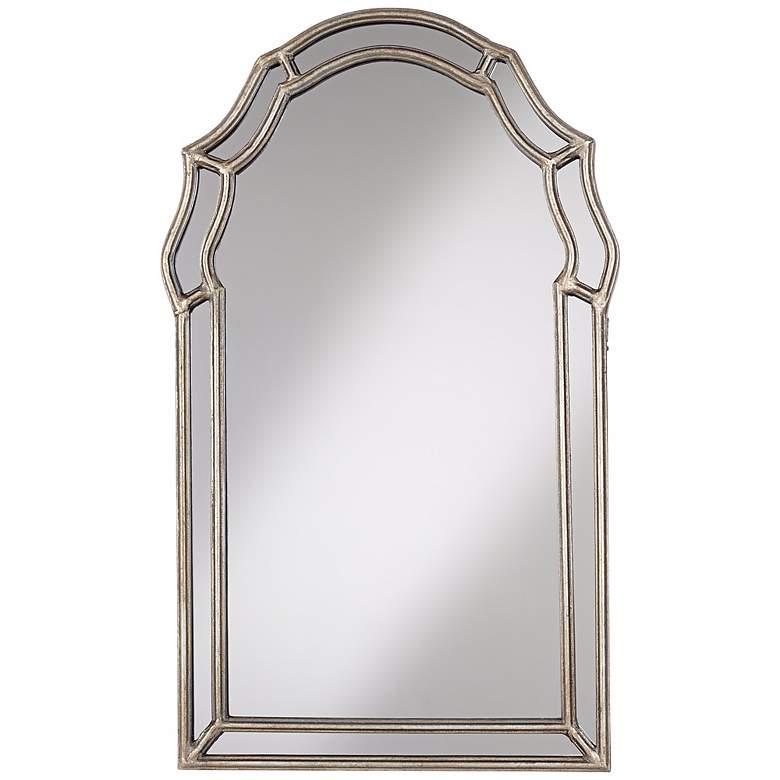 "Uttermost Petrizzi 21"" x 35"" Silver Wall Mirror"